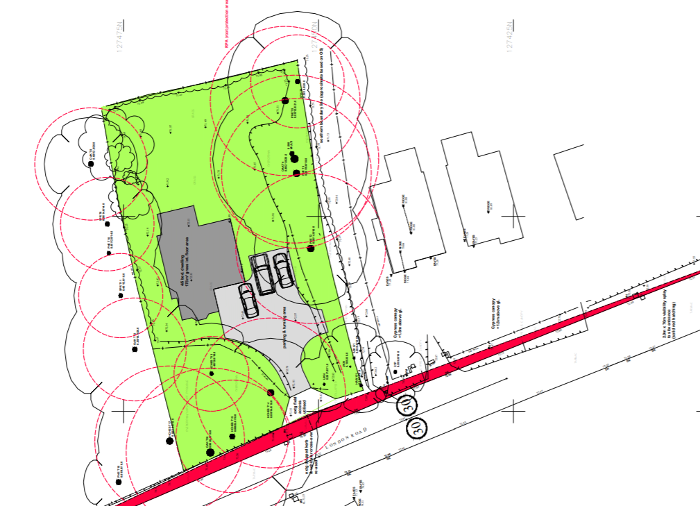 map of proposed block plan for HG 23 site
