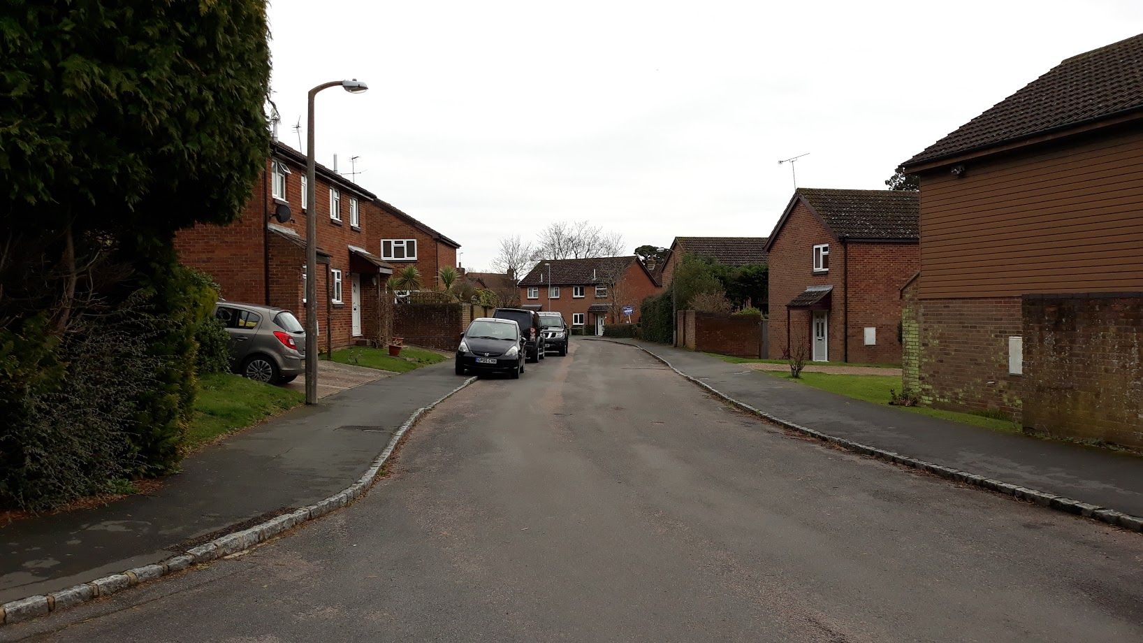 image of a street in hurst green