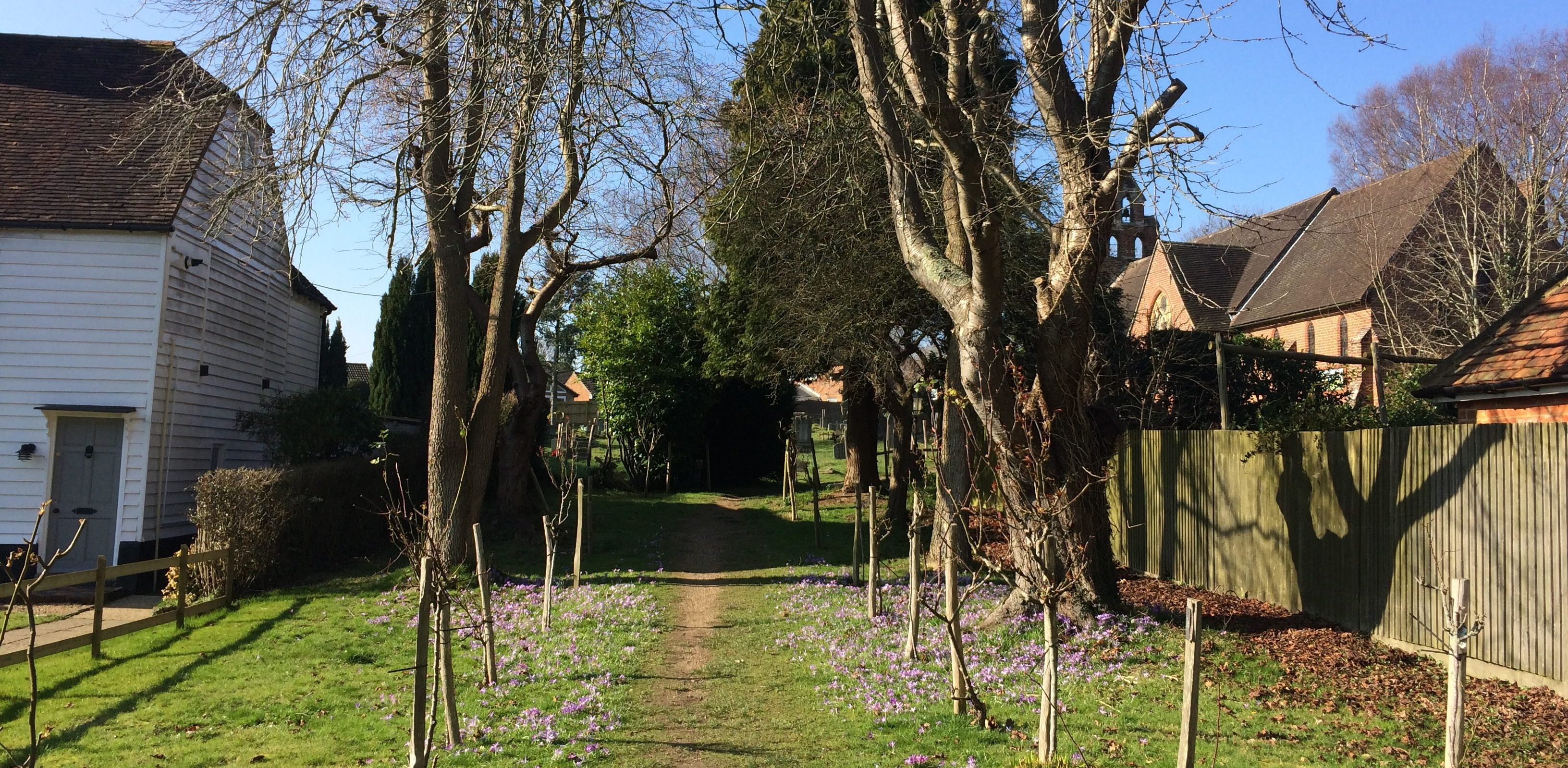 image of the path leading up to Hurst Green church