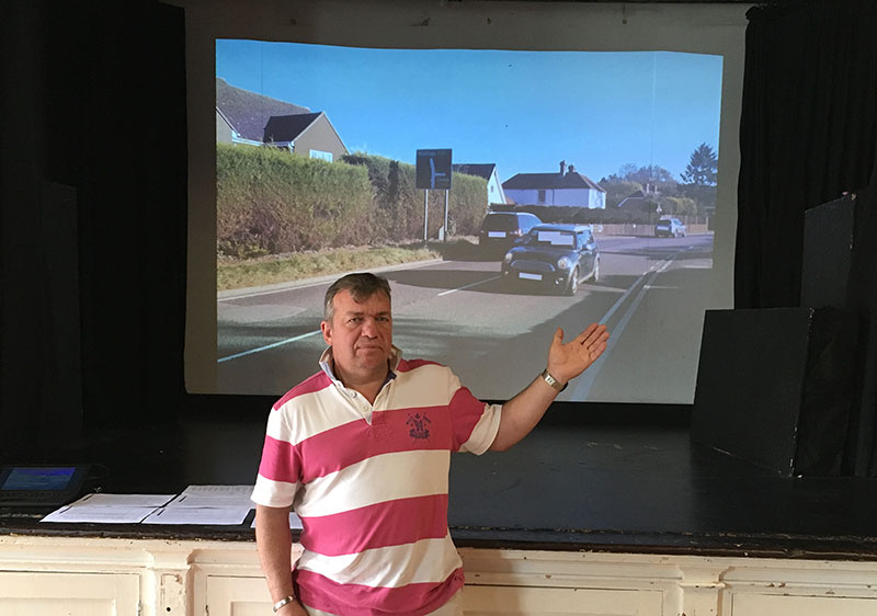 picture of Steve presenting at a public meeting