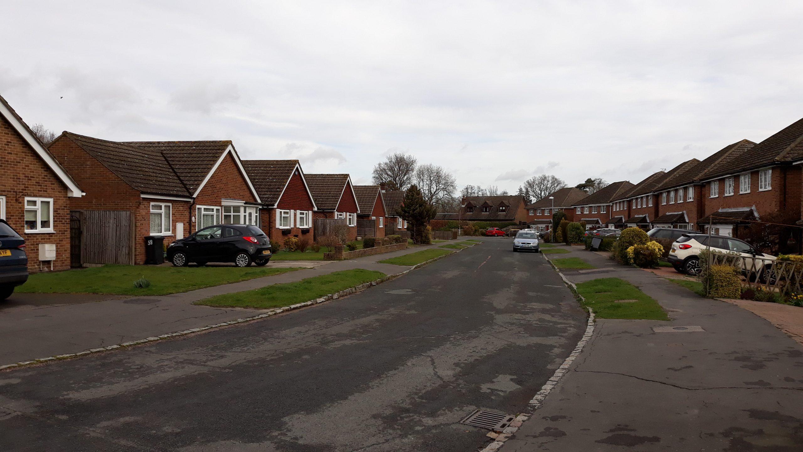 photograph of street scene along Ridgeway