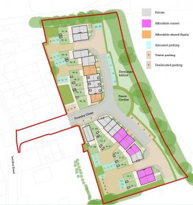 site layout of the approved foundry close scheme